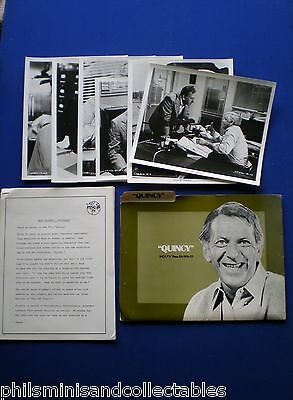 QUINCY TV Series  - Jack Klugman   MCA TV  - U.S. Promotional Press Kit 1976/77