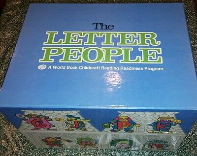 Vtg The Letter People: A World Book- Childcraft Reading Readiness Program 1981