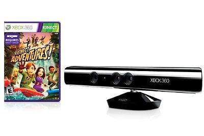 KINECT SENSOR FOR XBOX 360  +Power Supply + Kinect Adventures , 24h DISPATCH
