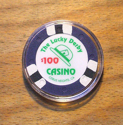 $100. LUCKY DERBY CASINO Chip - Citrus Heights, California - Shipping Discounts