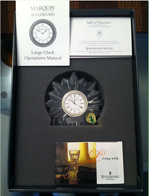 "Waterford Crystal ""Congratulation"" Clock 114978  New-Never Used"