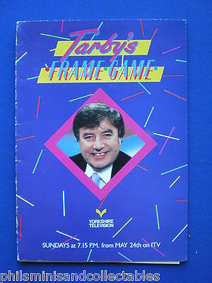 Tarby's Frame Game   Yorkshire TV  Promotional Press item 1987