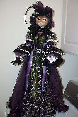 Hard to Find Katherines Collection Victorian CAT doll  GORGEOUS GOWN