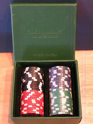 Poker Chips 50 Clay Composite Dice Striped 11.5 Gram Black Green Red Blue w/box