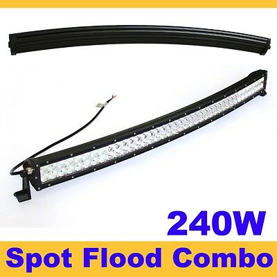 """240W 42"""" LED Curved Led Work Light Bar Spot Flood Combo Lamp Offroad SUV Jeep"""
