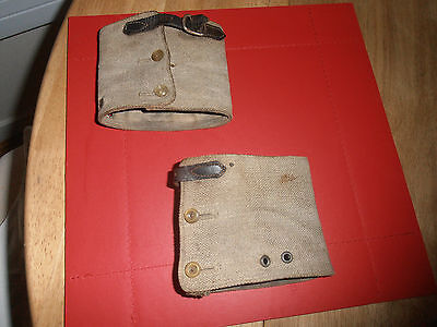 Edwardian Gentleman's Shooting  Webbing  Anklets Buckle & two button fastening