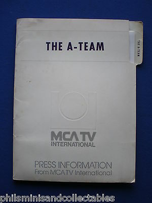 The A Team  - U.S. MCA TV 1st Season Promotional Press Kit 1983