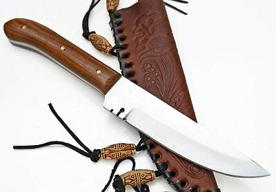 8.5 inch Patch Skinning Skinner Hunting Knife Knives Stainless Custom +Sheath