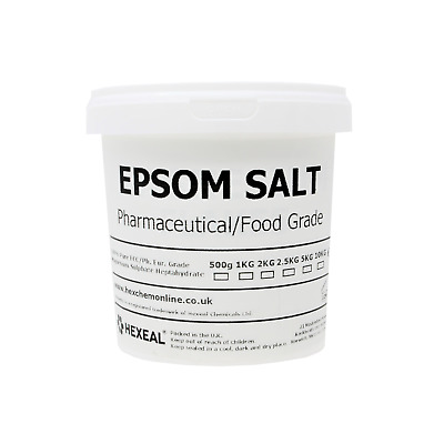 EPSOM SALT | 1KG BUCKET | 100% Natural | FCC Food Grade | Magnesium Sulphate