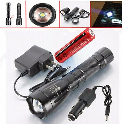 2500LM UltraFire CREE XM-L T6 LED Flashlight Torch Rechargeable Battery +Charger