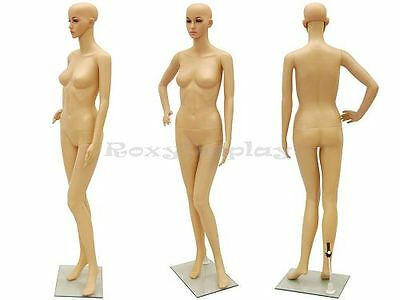 Female Unbreakable Plastic Mannequin Manikin Display Dress Form G1+Free Wig