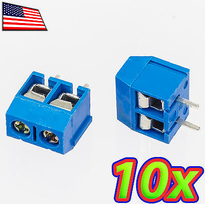 [10x] 2-Pin 5.08mm (2.54mm x 2) Pitch PCB Mount Screw Terminal Block Connector