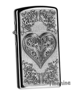 Hearts With Ornaments SLIM Lady-ZIPPO neu+ovp