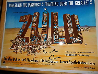 ZULU personally signed stunning 16x12 - MICHAEL CAINE (d)