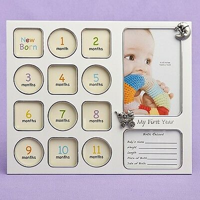 My First Year Baby Photo Picture Collage Frame Baby Shower Gift 12 Months Birth