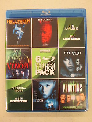 Masters of Terror 6 Pack, Vol. 2 (Blu-ray Disc, 2012, 2-Disc Set), Discs are NM
