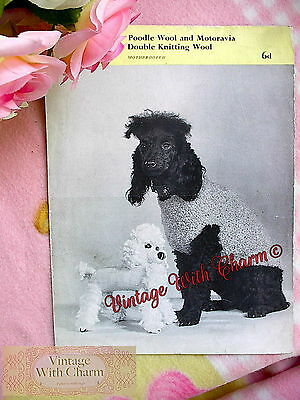 Vintage Knitting Pattern Copy Dog Coat For Small Dogs Cute Only