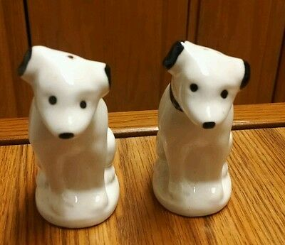 Vintage Nipper RCA Dog Salt & Pepper Shakers, With Corks, Nice!