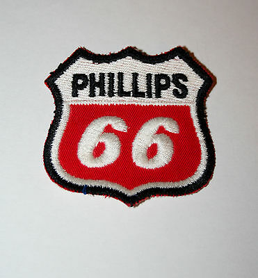 Vintage Phillips 66 Oil & Gas Co. Racing Cloth Car Jacket Patch New NOS 1970s