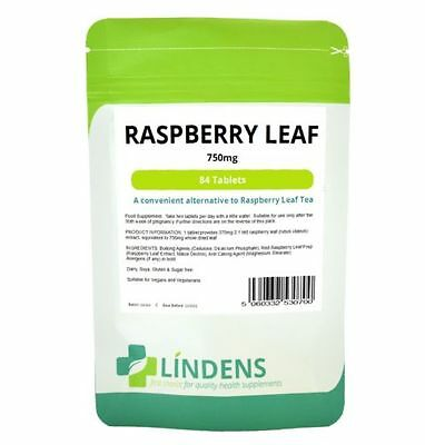 LINDENS RASPBERRY LEAF 84 TABLETS 750mg RED RASPBERRY EXTRACT (UK MADE)