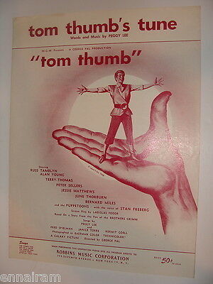 Tom Thumb's Tune by Peggy Lee 1958 from Tom Thumb w/ Russ Tamblyn Peter Sellers