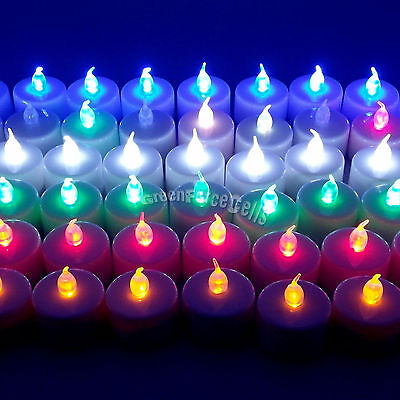 Flameless LED Tealight Tea Candles Light Battery Operated For Home Wedding Party