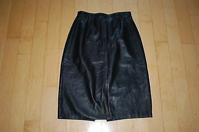 Dero Enterprises Black Leather Skirt by Rocco of NY  Size 8 Sexy Womens