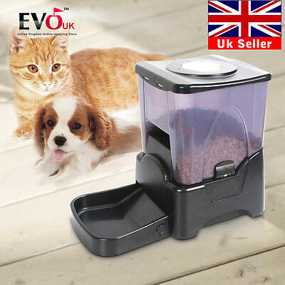 Automatic Auto Pet Feeder Dog Cat Food Holiday Bowl Dispenser 10L Large Capacity