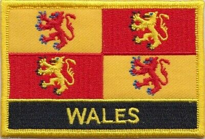 Wales Owain Glyndwr Flag Embroidered Patch Badge - Sew or Iron on