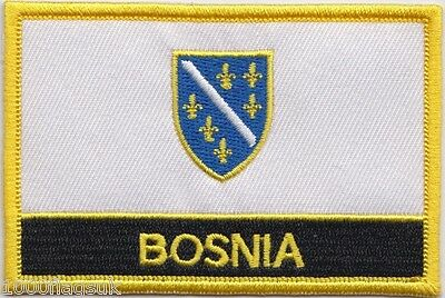 Bosnia and Herzegovina 1992 - 1998 Flag Embroidered Patch Badge - Sew or Iron on