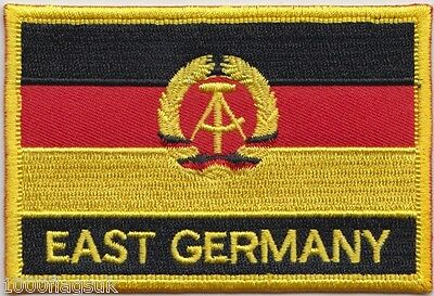 East Germany 1959 to 1990 Flag Embroidered Patch Badge - Sew or Iron on