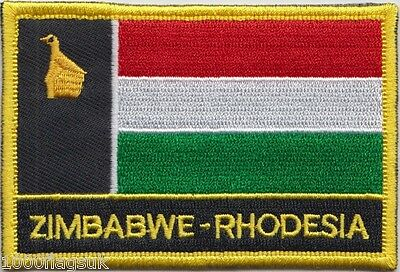 Zimbabwe Rhodesia 1979 Flag Embroidered Patch Badge - Sew or Iron on