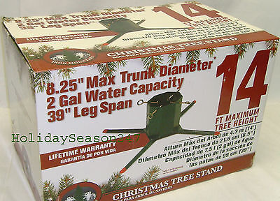 4-Leg Large Metal Live Christmas Tree Stand Holiday Hold Up 14Ft 8.24in Diameter