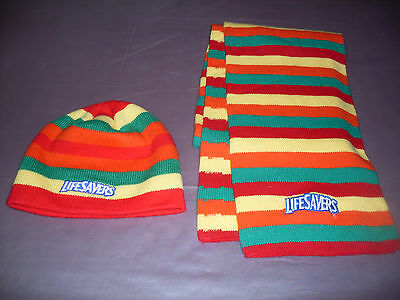 Life Savers Toque And Scarf Set *new*