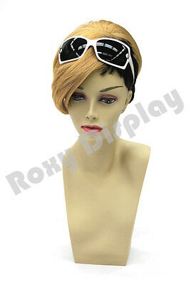 Female Fiberglass Mannequin Head Bust Wig Hat Jewelry Display #MD-BarbaraF3