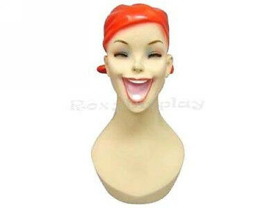 Female Fiberglass Mannequin Head Bust Vintage Style Wig Hat Jewelry Display #Y5