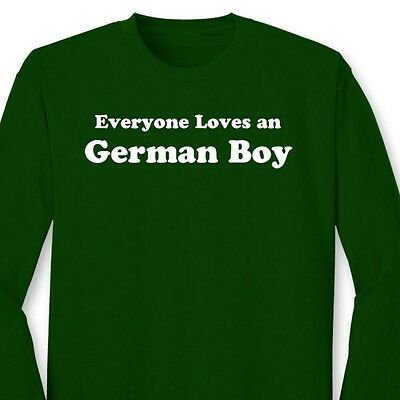 6d608f0088 Everyone Loves an German Boy Funny T-shirt Germany Heritage Gift Long  Sleeve Tee