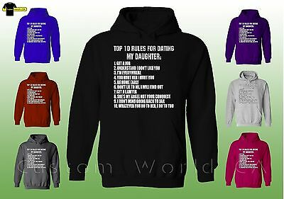 Top Ten Rules For Dating My Daughter-Drôle Pères Daughters Dating hoodie