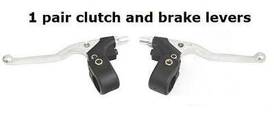 brake and clutch lever set suitable for trials, cafe racer, pit bike etc.