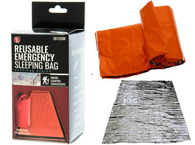 Heavy Duty Emergency Solar Thermal Sleeping Bag System Survival Disaster Camping
