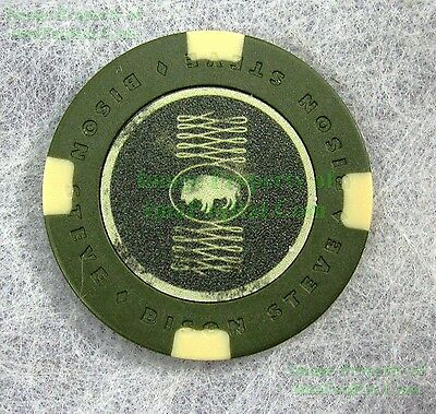 FALLOUT New Vegas Collector's Edition BISON STEVE Hotel Poker Chip REPLACE LOST