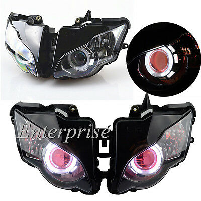 Projector Headlight Angel Eye Red Demon Eye HID for Honda CBR1000RR 2008-2011 10