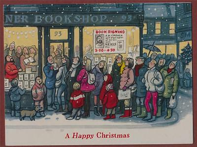 Christmas card from British novelist  'Francis King'  mv.20