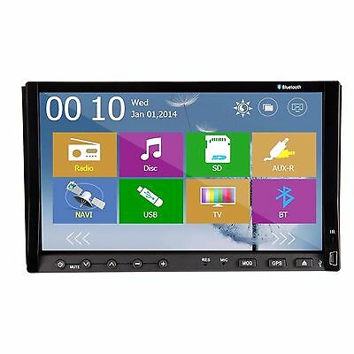 """7"""" Double 2 Din LCD Touch Screen GPS Stereo Car DVD Player Radio Bluetooth iPod"""