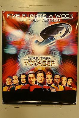 "Star Trek Voyager TV Show Promotional Poster 30"" x 24"" Single Sided"