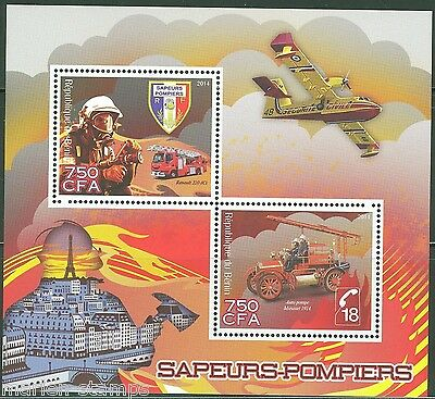 Benin 2014  Fire Trucks  Sheet Mint Nh