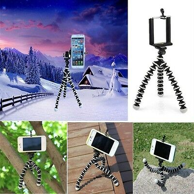 Octopus Mini Flexible Tripod Stand Mount Holder for Apple iPhone 5 6 Samsung HTC