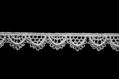 Unotrim 4 inches Ivory and White Venice Guipure Lace Trim Sewing notions by Yard