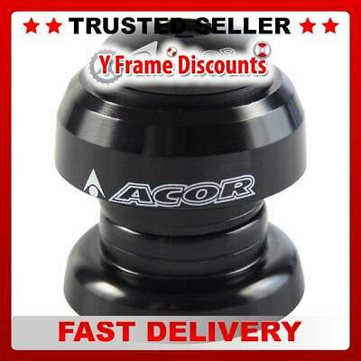 "Acor Alloy Threadless Headset 1"" MTB Bike Cycle Head Set in Black or Silver"