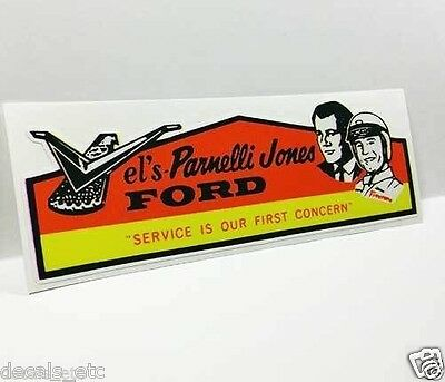 Vel's Parnelli Jones Ford Vintage Style DECAL, Vinyl STICKER, racing, Mustang